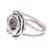 Sterling silver cocktail ring, 'Chic Rose' - Rose Flower Sterling Silver Cocktail Ring from Thailand (image 2d) thumbail