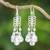 Sterling silver chandelier earrings, 'Lovely Woman' - Sterling Silver Drop Pattern Chandelier Earrings (image 2) thumbail