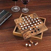 Wood puzzle, 'Solitaire Pegs'