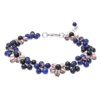 Lapis Lazuli and Glass Beaded Bracelet from Thailand