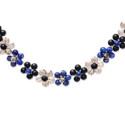 Lapis Lazuli and Glass Beaded Necklace from Thailand