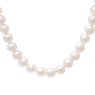 Cultured pearl beaded necklace, 'Fantastic Glow' - Cultured Pearl Beaded Necklace from Thailand