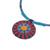 Cotton pendant necklace, 'Red Hmong Sun Medallion' - Handcrafted Cotton Pendant Necklace in Red from Thailand (image 2d) thumbail