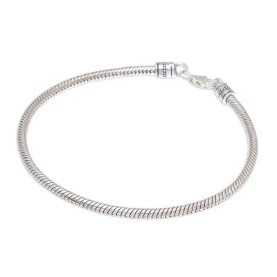 Sterling Silver Snake Chain Bracelet from Thailand
