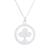 Sterling silver pendant necklace, 'Tree Circle' - Circular Sterling Silver Pendant Necklace from Thailand (image 2a) thumbail