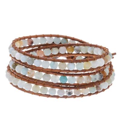 Quartz beaded wrap bracelet, 'Colorful Delight' - Colorful Quartz Beaded Wrap Bracelet from Thailand