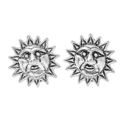 Sterling Silver Sun Stud Earrings from Thailand