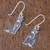 Sterling silver dangle earrings, 'Mister Cat' - Sterling Silver Cat Dangle Earrings from Thailand (image 2b) thumbail