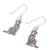 Sterling silver dangle earrings, 'Mister Cat' - Sterling Silver Cat Dangle Earrings from Thailand (image 2c) thumbail