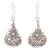 Silver dangle earrings, 'Karen Cones' - Floral Karen Silver Dangle Earrings from Thailand (image 2a) thumbail