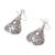Silver dangle earrings, 'Karen Cones' - Floral Karen Silver Dangle Earrings from Thailand (image 2c) thumbail
