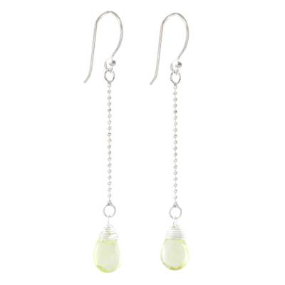 Faceted Citrine Dangle Earrings from Thailand