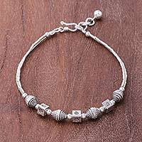 Featured review for Silver beaded bracelet, Karen Dream