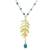 Prehnite and quartz link pendant necklace, 'Natural Royalty' - Prehnite and Quartz Link Pendant Necklace from Thailand thumbail