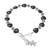 Onyx beaded bracelet, 'Black Hearts' - Heart Pattern Onyx Beaded Bracelet from Thailand thumbail