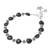 Onyx beaded bracelet, 'Black Hearts' - Heart Pattern Onyx Beaded Bracelet from Thailand (image 2c) thumbail