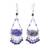 Lapis lazuli beaded chandelier earrings, 'Lovely Rain' - Lapis Lazuli Beaded Chandelier Earrings from Thailand thumbail