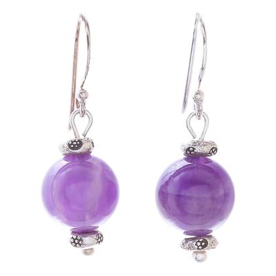 Amethyst Dangle Earrings from Thailand