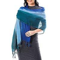 Cotton shawl, 'Cool Night'