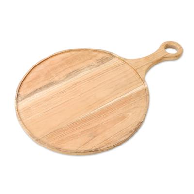 Handmade Teak Wood Pizza Tray from Thailand