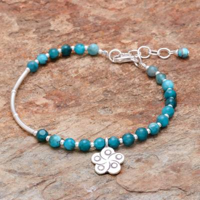 Apatite beaded bracelet, Beautiful Flower