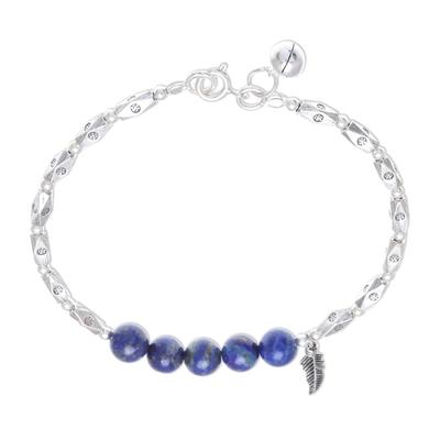 Hill Tribe Lapis Lazuli Beaded Bracelet from Thailand