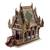Wood spirit house, 'Lanna Temple' (16 inch) - Wood and Glass Spirit House Handcrafted in Thailand (16 in.) (image 2c) thumbail