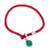 Jade pendant bracelet, 'Lucky Red String' - Jade Pendant Bracelet with Red Cord from Thailand (image 2e) thumbail