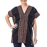 Cotton blouse, 'Karen Style in Onyx'