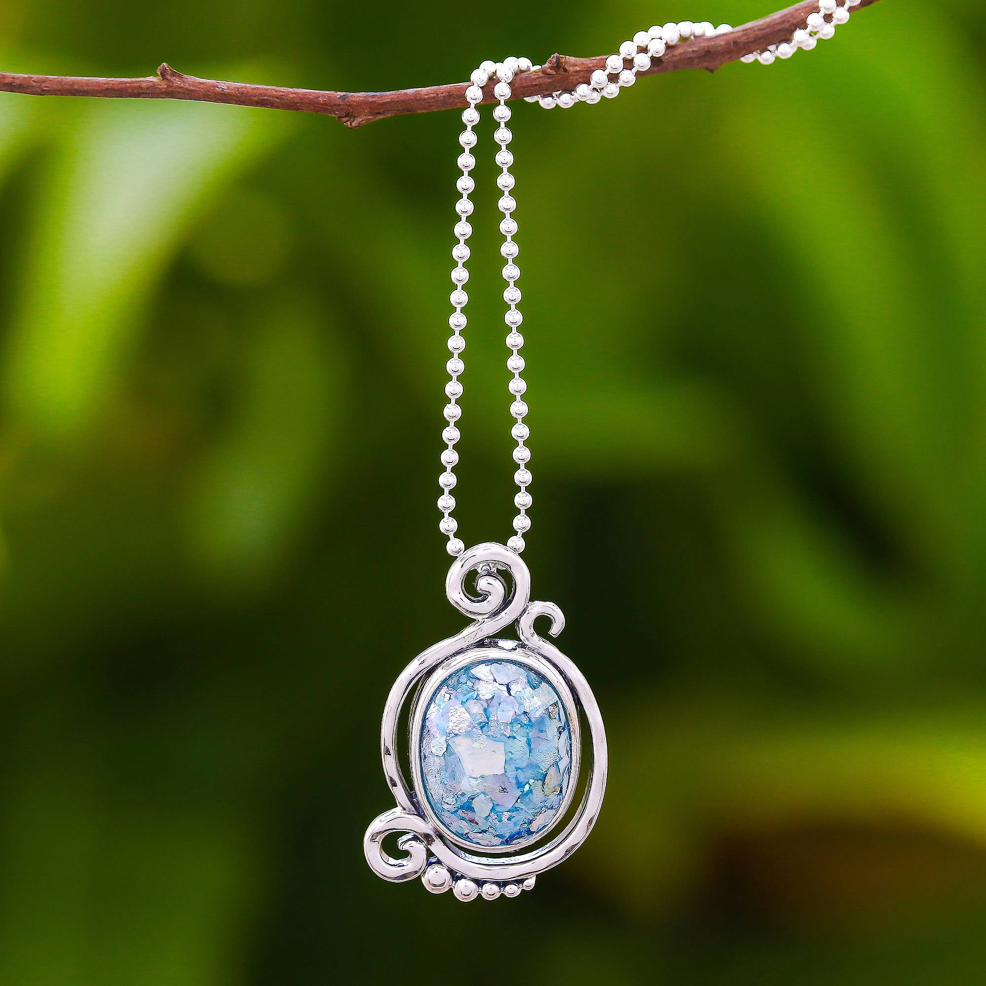 18 Success NOVICA Glass Pendant Necklace