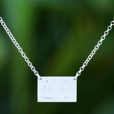 Sterling silver pendant necklace, 'Formula for Life' - Sterling Silver Pendant Necklace Handcrafted in Thailand