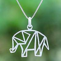 Sterling silver pendant necklace, 'Mother of the Forest'