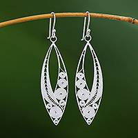 Sterling silver filigree dangle earrings, 'Virtuosity' - Elegant Sterling Silver Filigree Dangle Earrings