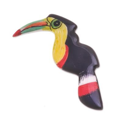 Hand Painted Ceramic Hornbill Brooch