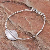 Silver beaded pendant bracelet, 'Lucid Dream' - 950 Silver Beaded Pendant Bracelet from Thailand