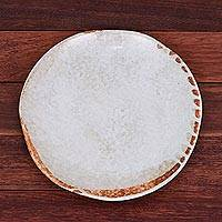 Ceramic luncheon plate, 'Natural Appeal' - Hand Crafted Ceramic Plate from Thailand
