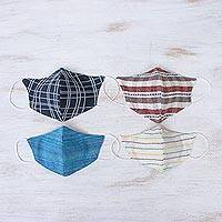 Cotton face masks Weekend Casual (set of 4)
