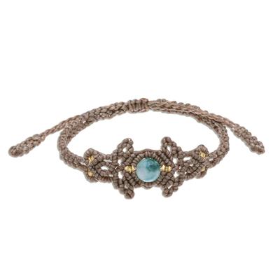 Green Quartz Beaded Cord Bracelet