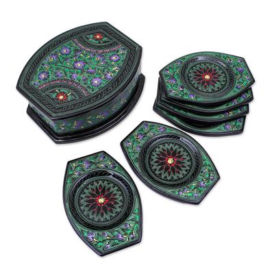 Hand Crafted Thai Lacquerware Coaster Set (Set of 6)
