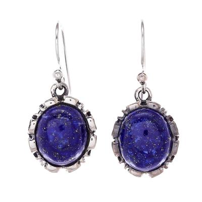 Lapis Lazuli Sterling Silver Dangle Earrings