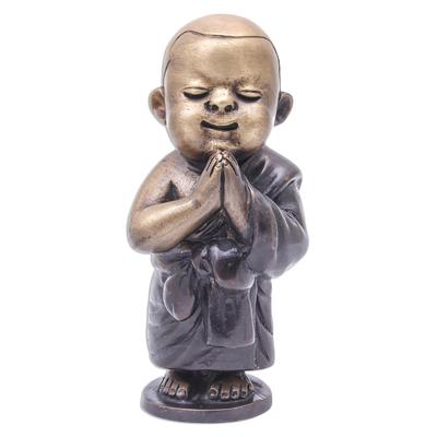 Artisan Crafted Brass Novice Monk Sculpture