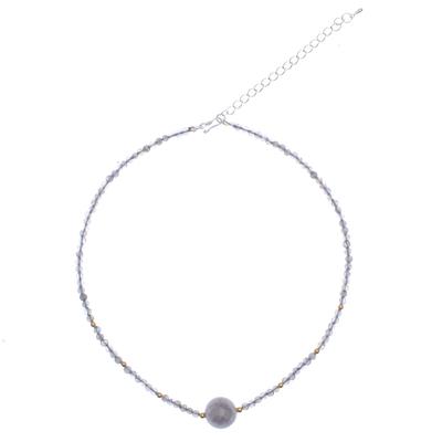 Artisan Made Labradorite Beaded Pendant Necklace