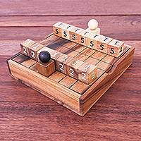 Wood game, 'City Battle' - Hand Carved Raintree Wood Game from Thailand