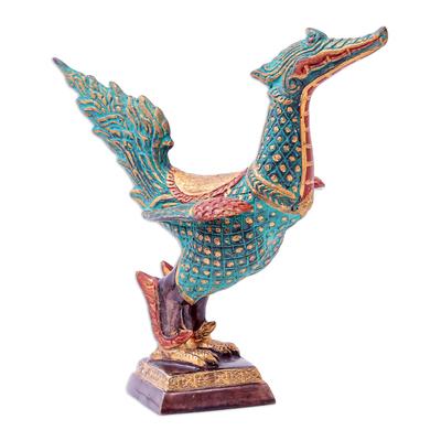 Hand Made Brass Swan Sculpture from Thailand