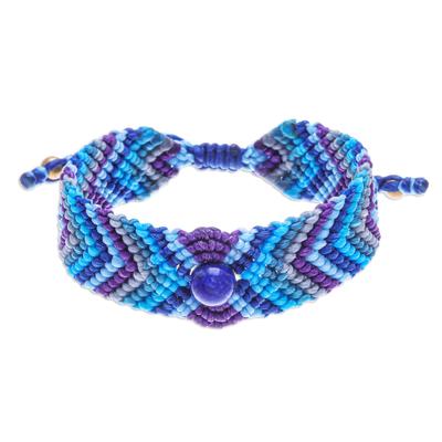 Hand Crafted Macrame Lapis Lazuli Bracelet