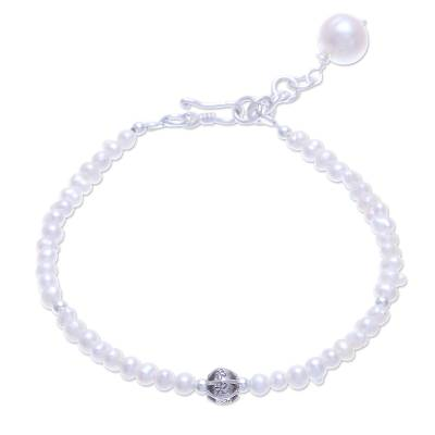 Cultured Freshwater Pearl Pendant Bracelet from Thailand