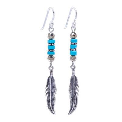 Handmade Hematite and Sterling Silver Dangle Earrings