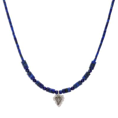 Hand Made Lapis Lazuli and Silver Pendant Necklace