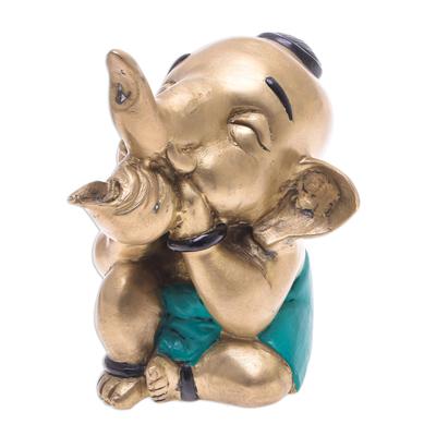 Hand Made Brass Elephant Sculpture from Thailand
