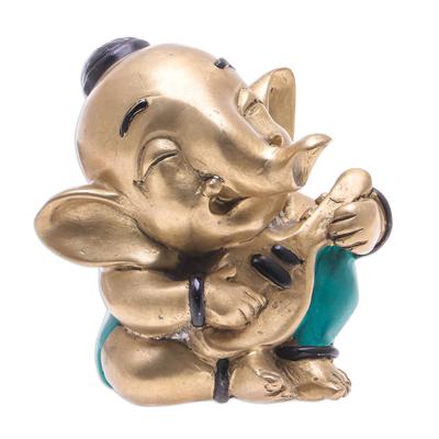 Handmade Brass Music Sculpture from Thailand